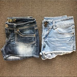 Bundle of 2 Hydraulic jean shorts   juniors 9/10